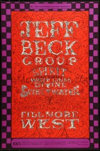 1p015 JEFF BECK GROUP 14x21 music poster 1968 great psychedelic art by Lee Conklin, Bill Graham!