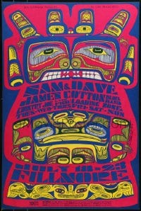 1p024 SAM & DAVE/JAMES COTTON BLUES BAND/COUNTRY JOE & THE FISH/LOADING ZONE 14x21 music poster 1967