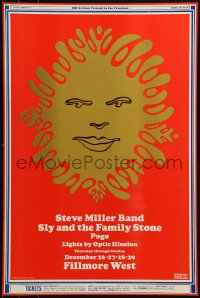 1p002 STEVE MILLER BAND/SLY & THE FAMILY STONE/POGO 14x21 music poster 1968 Wes Wilson art!