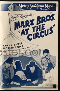 1p027 AT THE CIRCUS English pressbook 1940 The Marx Brothers, Groucho, Chico & Harpo, ultra rare!