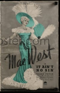 1p033 BELLE OF THE NINETIES pressbook 1934 Leo McCarey, Mae West, working title It Ain't No Sin!
