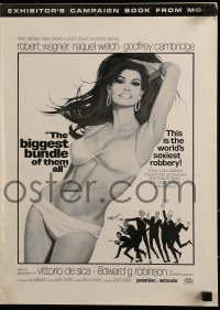 1p037 BIGGEST BUNDLE OF THEM ALL pressbook 1968 art of sexiest Raquel Welch by Robert McGinnis!