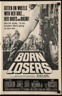1p040 BORN LOSERS pressbook 1967 Tom Laughlin directs and stars as Billy Jack, motorcycle art!