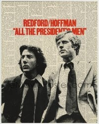 1r016 ALL THE PRESIDENT'S MEN color 11x14 TC 1976 Hoffman & Redford as Woodward & Bernstein!