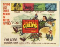 1r001 3 WORLDS OF GULLIVER TC 1960 Ray Harryhausen fantasy classic, giant Kerwin Mathews!
