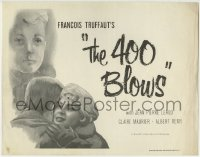 1r003 400 BLOWS TC 1959 Jean-Pierre Leaud as young Francois Truffaut, French New Wave classic!