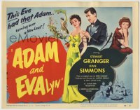 1r008 ADAM & EVALYN TC 1950 sexy Jean Simmons had Stewart Granger turning over a new leaf!