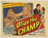 1r013 ALIAS THE CHAMP TC 1949 great images of world's most colorful pro wrestler Gorgeous George!