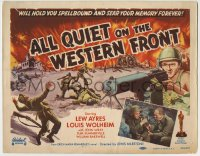 1r014 ALL QUIET ON THE WESTERN FRONT TC R1950 Lew Ayres in a story of blood, guts and tears!