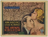 1r019 ANIMAL KINGDOM TC 1932 Leslie Howard & Ann Harding have a love too sacred for marriage, rare!