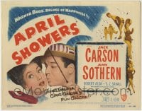 1r020 APRIL SHOWERS TC 1948 Jack Carson & Ann Sothern under umbrella, songs, girls & fun galore!