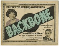 1r023 BACKBONE TC 1923 Alfred Lunt, Edith Roberts, written by Clarence Budington Kelland!