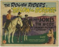 1r029 BELOW THE BORDER TC 1942 Rough Riders Buck Jones, Tim McCoy, Raymond Hatton, Silver the horse