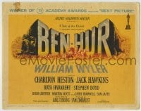 1r030 BEN-HUR TC 1960 Charlton Heston, William Wyler classic epic, winner of 11 Academy Awards!
