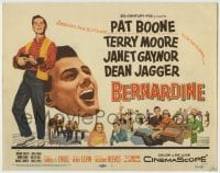 1r032 BERNARDINE TC 1957 America's New Boy friend Pat Boone in his first movie!