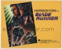 1r034 BLADE RUNNER TC 1982 Ridley Scott sci-fi classic, art of Harrison Ford by John Alvin!