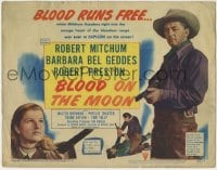 1r037 BLOOD ON THE MOON TC 1949 Robert Mitchum & Barbara Bel Geddes, directed by Robert Wise!