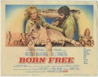 1r040 BORN FREE TC 1966 great image of Virginia McKenna & Bill Travers with Elsa the lioness!