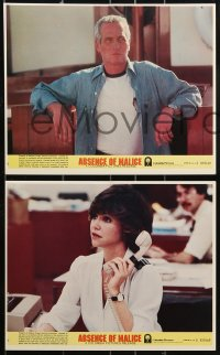 1s015 ABSENCE OF MALICE 8 8x10 mini LCs 1981 Paul Newman, Sally Field, directed by Sydney Pollack!