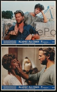 1s016 AGAINST ALL ODDS 8 8x10 mini LCs 1984 Jeff Bridges, Rachel Ward, James Woods, Alex Karras!