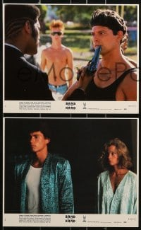 1s020 BAND OF THE HAND 8 8x10 mini LCs 1986 Paul Michael Glaser, delinquents clean Miami!