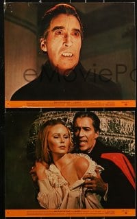 1s028 DRACULA HAS RISEN FROM THE GRAVE 8 8x10 mini LCs 1969 vampire Chris Lee, Veronica Carlson!