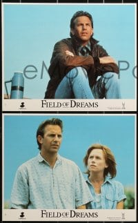 1s033 FIELD OF DREAMS 8 8x10 mini LCs 1989 Kevin Costner baseball classic, Amy Madigan, Lancaster!