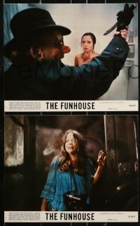 1s036 FUNHOUSE 8 8x10 mini LCs 1981 Tobe Hooper carnival horror, something is alive in there!