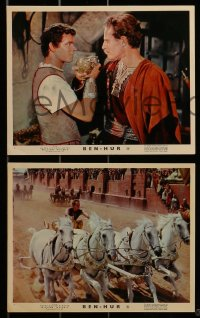 1s021 BEN-HUR 8 color English FOH LCs 1960 Charlton Heston, William Wyler classic epic!
