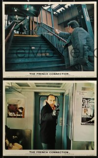 1s035 FRENCH CONNECTION 8 color English FOH LCs 1971 crime classic directed by William Friedkin!