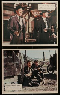 1s038 GUNFIGHT AT THE O.K. CORRAL 8 color English FOH LCs R1970s Burt Lancaster, Kirk Douglas!