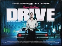 1t428 DRIVE DS British quad 2011 Ryan Gosling behind car w/bag, directed by Nicolas Winding Refn!