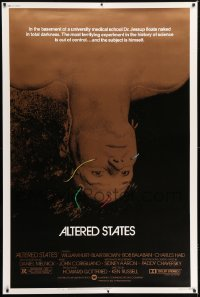 1w056 ALTERED STATES 40x60 1980 William Hurt, Paddy Chayefsky, Ken Russell, sci-fi horror!