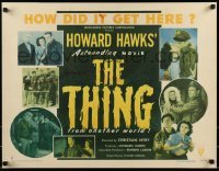 1w011 THING style B 1/2sh 1951 Howard Hawks classic, shows seven scenes from the movie, rare!