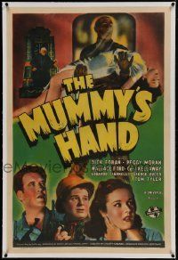 1w120 MUMMY'S HAND linen 1sh 1940 Universal horror, great bandaged monster image, incredibly rare!