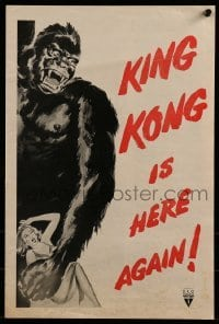 1w037 KING KONG/I WALKED WITH A ZOMBIE pressbook 1956 horror double-bill with wonderful art of the giant ape!