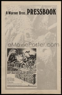 1w041 WHEN DINOSAURS RULED THE EARTH int'l pressbook 1971 unknown terrors & virgin sacrifices!