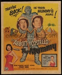 1w017 ABBOTT & COSTELLO MEET THE MUMMY WC 1955 Bud & Lou are back in their mummy's arms!