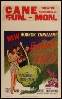 1w020 FIEND WITHOUT A FACE WC 1958 giant brain & sexy girl in towel, mad science spawns evil, rare!