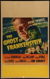 1w023 GHOST OF FRANKENSTEIN WC 1942 monster Lon Chaney Jr., Bela Lugosi, Evelyn Ankers, ultra rare!
