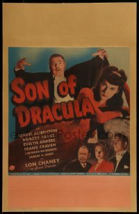 1w030 SON OF DRACULA WC 1943 Lon Chaney Jr. as Count Alucard looming over Louise Allbritton & cast!
