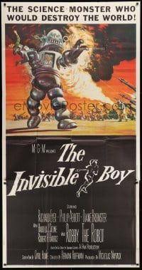 1x067 INVISIBLE BOY 3sh 1957 Robby the Robot as the science-monster who'd destroy the world!