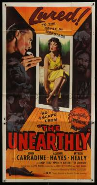1x069 UNEARTHLY 3sh 1957 John Carradine & sexy Allison Hayes lured to the house of monsters!