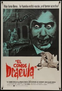 1x078 COUNT DRACULA Argentinean 1970 directed by Jesus Franco, Christoper Lee as the vampire!
