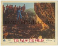 1x003 WAR OF THE WORLDS color English FOH LC 1953 group of people approaching alien landing site!