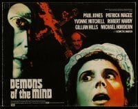 1x004 DEMONS OF THE MIND English pressbook 1972 creepy image of man looking through keyhole!