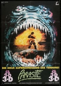 1x022 PARASITE German 1982 Demi Moore, futuristic monster movie in 3-D, artwork by George Morf!