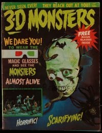 1x034 3-D MONSTERS vol 1 no 1 magazine 1964 includes 3D magic glasses allow you to see monsters!