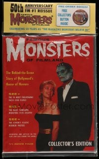 1x035 FAMOUS MONSTERS OF FILMLAND magazine 2008 50th Anniversary re-issue of first issue + button!