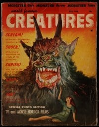 1x038 WORLD FAMOUS CREATURES no 2 magazine Dec 1958 special TV & movie horror films photo section!